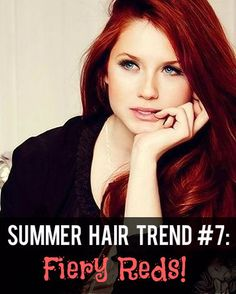 Summer Hair Trend #7: Fiery Red Hair Color! [Have to try these!] #darkredhair #summerhair #hairtrends