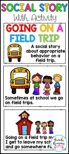 Social Story teaching appropriate behavior on a field trip.