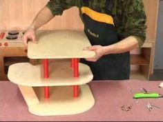 Wooden toy . wooden garage G1.avi, via YouTube.