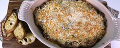 Stuffed Mushroom Dip...Transform sausage and cheese and mushrooms into a tasty dip for your next party! Clinton Kelly - The Chew