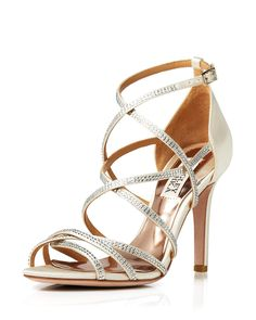Badgley Mischka Open Toe Evening Sandals - Meghan High-Heel Shoes - All Shoes - Bloomingdale's Nude Heels, High Heels, Badgley Mischka, Evening Sandals, Open Toe, How To Wear, Shoes, Satin, Classic