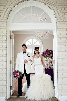 f967b9dbce Featured  Mardi Gras Wedding Inspiration. Groom OutfitGroom AttireBride ...