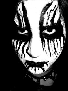 Gothic/Metal styled SFX makeup idea / Pairs great with some Black gothic FX contacts => http://www.pinterest.com/pin/350717889705707881/