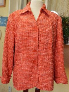 Coldwater Creek Boucle Peplum Blazer 18W Multi Party Cute Fun Wear w/Slacks Plus #ColdwaterCreek #Jacket