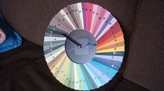 Paint sample clock from Instructables, what a great idea!