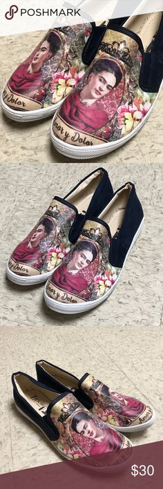 New Mexican Frida Kahlo Tennis Shoes Loafers Flats New Cielito Lindo Shoes Flats & Loafers