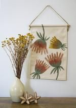 Our mini wall hangings feature original botanical designs printed on thick, quality canvas fabric and suspended from natural Tasmanian oak with cotton twine - ready to be hung as a perfect addition to your home or office space. Wall Hangings, Canvas Fabric, Mini, Prints, Design, Home Decor, Decoration Home, Room Decor