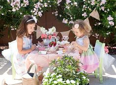 A child's tea party.