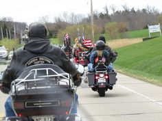 "When you are riding with 300 bikers, a thought comes to mind - ""The cavalry is coming.""  Ha ha ha!"