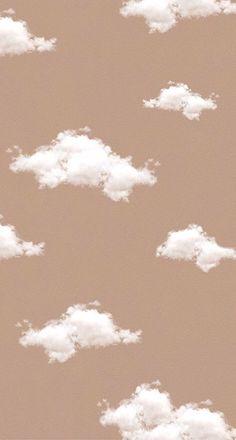 Aesthetic beige cloud wallpaper ~ Credits to Original Owner ♡~ Cloud Wallpaper, Brown Wallpaper, Iphone Background Wallpaper, Cartoon Wallpaper, Disney Wallpaper, Wallpaper Quotes, Hipster Wallpaper, Wallpaper Iphone Vintage, Simple Iphone Wallpaper