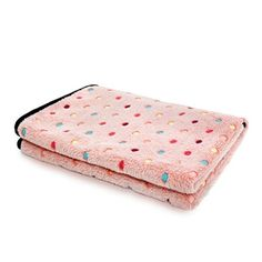 PAWZ Road Pet Dog Blanket Fleece Fabric Soft and Cute Pink S -- Click image for more details.