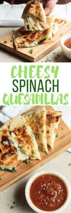 These Spinach Quesad These Spinach Quesadillas are gooey cheesy... These Spinach Quesad These Spinach Quesadillas are gooey cheesy and incredibly easy to prepare. From stove to table in less than 5 minutes! http://ift.tt/2hWTN6X Recipe : http://ift.tt/1hGiZgA And @ItsNutella http://ift.tt/2v8iUYW