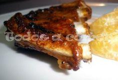 Receta: Costillas a la miel con mandarinas