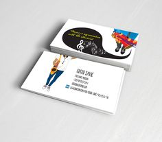 business card and illustration for freelance musician