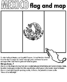 Mexico Flag Coloring Sheet From Crayola