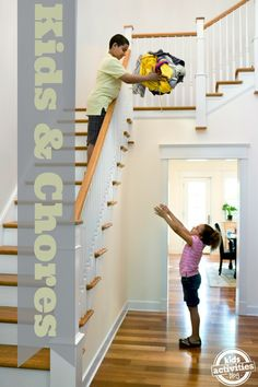 Chores for Kids - with a great list by age group to jump-start the process of getting kids more involved in helping around the house.