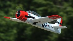 Dynam 5-CH T-28 Trojan 1270mm Remote Control RC Plane w/Brushless Power + Retracts 2.4G RTF (Red)