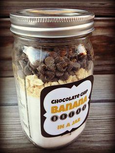 Chocolate Chip Banana Bread in a Jar