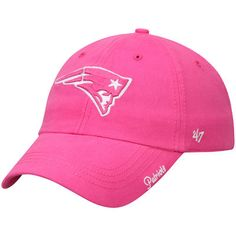 Women s New England Patriots  47 Pink Miata Clean Up Adjustable Hat bb4f2e6f1
