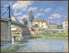 Alfred Sisley (British, 1839–1899). The Bridge at Villeneuve-la-Garenne, 1872…
