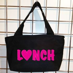 Neon Lunch Insulated Lunch Bag (Black) - LikeWear