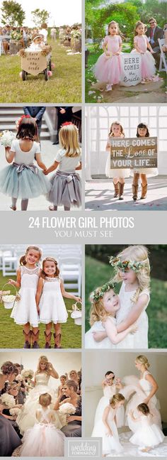 24 Must-See Flower Girl Photos ❤ When people think about the wedding, they think bride, bridesmaids, but let's don't forget about little princess - flower girl, this cute bride-in-training. See more: http://www.weddingforward.com/flower-girl-photos/ #weddings #photography