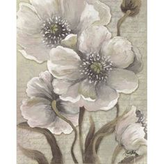 """Classy Art 22 in. x 26 in. """"Scripted Beauty I"""" by Elizabeth Medley Framed Printed Wall Art 8146 - The Home Depot Art Floral, Kunst Poster, Wall Art For Sale, Easy Paintings, Watercolor Flowers, Flower Art, Painting & Drawing, Art Decor, Canvas Art"""
