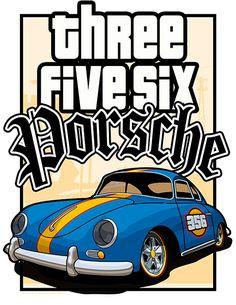 Porsche 356 - LA Style Poster
