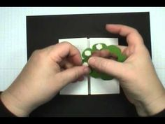cardmaking video: Easy Interlocking Stampin' Up! Floral Frames Wreath Card ... luv this idea of closing a gatefold card ... looks great in a Christmas Tree motif but could easily be changed with other color combos ... luv it!!