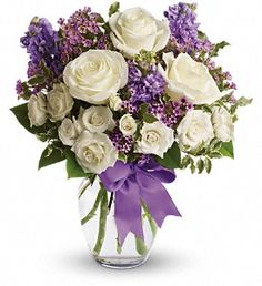 Celebrate every milestone with anniversary flowers & gifts at Teleflora. Shop anniversary flowers by year, symbols & colors for a memorable arrangement. Get Well Flowers, Flowers Today, Mothers Day Flowers, Purple Flowers, Purple Ribbon, Send Flowers, Flower Bouquets, Gift Flowers, Wax Flowers