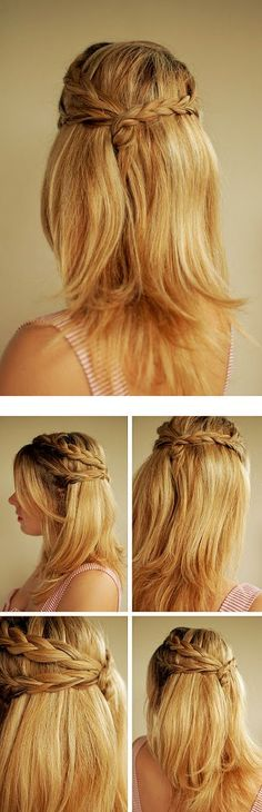 Half Up Half Down Bridal Hairstyle Tutorial