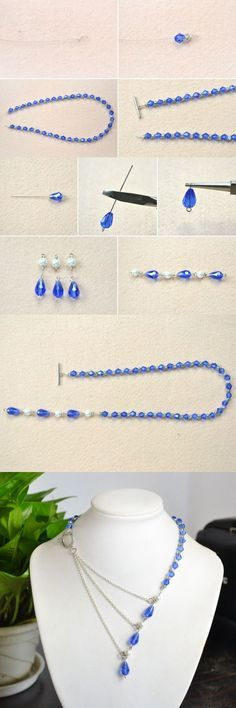 Tutorial for ocean style chain necklace from LC.Pandahall.com