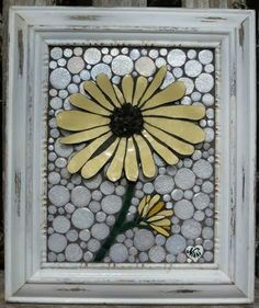 "Yellow Pastel mosaic 8""x12"" by Nikki Murray-Mason, Nikki Inc Mosaics www.nikkiinc.com"