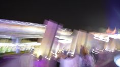 A nighttime visit to any one of the parks at Walt Disney World brings different opportunities for photographs – especially in range of colors and, with slow camera shutter speeds, the blur of motion. Here's a neat one I got March 3, 2017, as I was leaving EPCOT. Not only does it have the monorail, but also color and motion – the front of the train is focus, but the rest isn't. We're back for the EPCOT International Flower & Garden Festival.