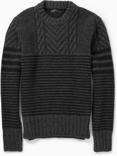 Belstaff Burstead Patterned Wool Sweater on shopstyle.com