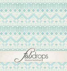 Tribal Pattern Photography Backdrop Blue Tone FD2197 by FabDrops