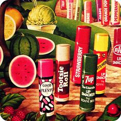 lip smackers that tasted like soda or candy were the best! 7up was my fav