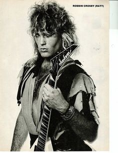 The Late Robbin Crosby Jackson Guitars, Hairy Chest, Illustrations, Cute Photos, Rock N Roll, Pin Up, Wonder Woman, Memories, Superhero