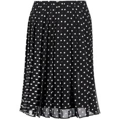 Theory Lewdill pleated polka-dot silk-georgette skirt (3 915 UAH) via Polyvore featuring skirts, black, knee length pleated skirt, polka dot pleated skirt, knee length skirts, knee high skirts и theory skirt