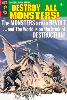 Not a real Gold Key comic, but it looks like one... Godzilla Comics They Never Made - Destroy All Monsters!