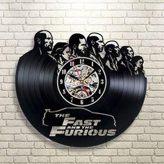 The Fast and the Furious disco de vinilo del reloj 2