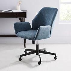 Aluna Upholstered Office Chair #westelm
