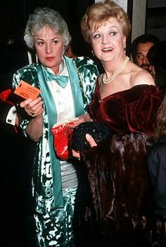Bea Arthur and Angela Lansbury became friends for life after meeting in Young Celebrities, Celebs, Dorothy Zbornak, Bea Arthur, Angela Lansbury, Betty White, Golden Girls, Famous Women, Girl Humor
