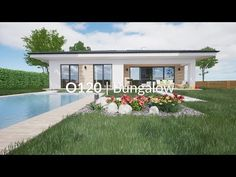 Perfect size of rooms, plenty of storage space and a sheltered terrace ensures that this bungalow is an ideal house for a family of four. Guest House Plans, House Layout Plans, My House Plans, House Layouts, Modern Bungalow Exterior, Bungalow House Design, Minimal House Design, Minimal Home, House Plans Mansion