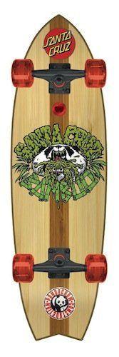 Santa Cruz Bamboo Shark Complete Longboard Skateboard - 33` by Santa Cruz. $134.95. The Bamboo Shark Cruzer is a Santa Cruz skateboard. This cruiser has a clear sprayed on grip so you can see the custom inlaid bamboo thatch.. Save 16%!