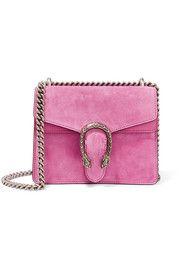 Dionysus mini suede shoulder bag in pink