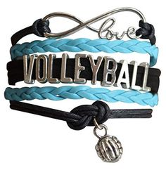 This Sportybella Girls Volleyball Jewelry Braceletis a beautiful and fun way to express yourlove of Volleyball. This makes a Perfect gift for Volleyball Teams, Volleyball Players & VolleyballCoaches. Details of Bracelet: Volleyball Team Colors: Blue, Silver & Navy Size: Volleyball bracelets are adjustable, 6-8 Inches Adjustable Length Material: Leather and wax cords withantique silver alloy …