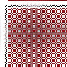 draft image: Page 2, Figure 2, Bindungs-Lexikon für Schaftweberei, Franz Donat, 2S, 2T