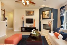 Lennar New Homes For Sale - Building Houses and Communities Ryland Homes, Living Spaces, Living Rooms, Family Rooms, Amazing Spaces, New Home Designs, New Homes For Sale, Entertainment Room, Model Homes