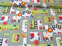 Kinderstoff Spiel-Spaß-Straße grün